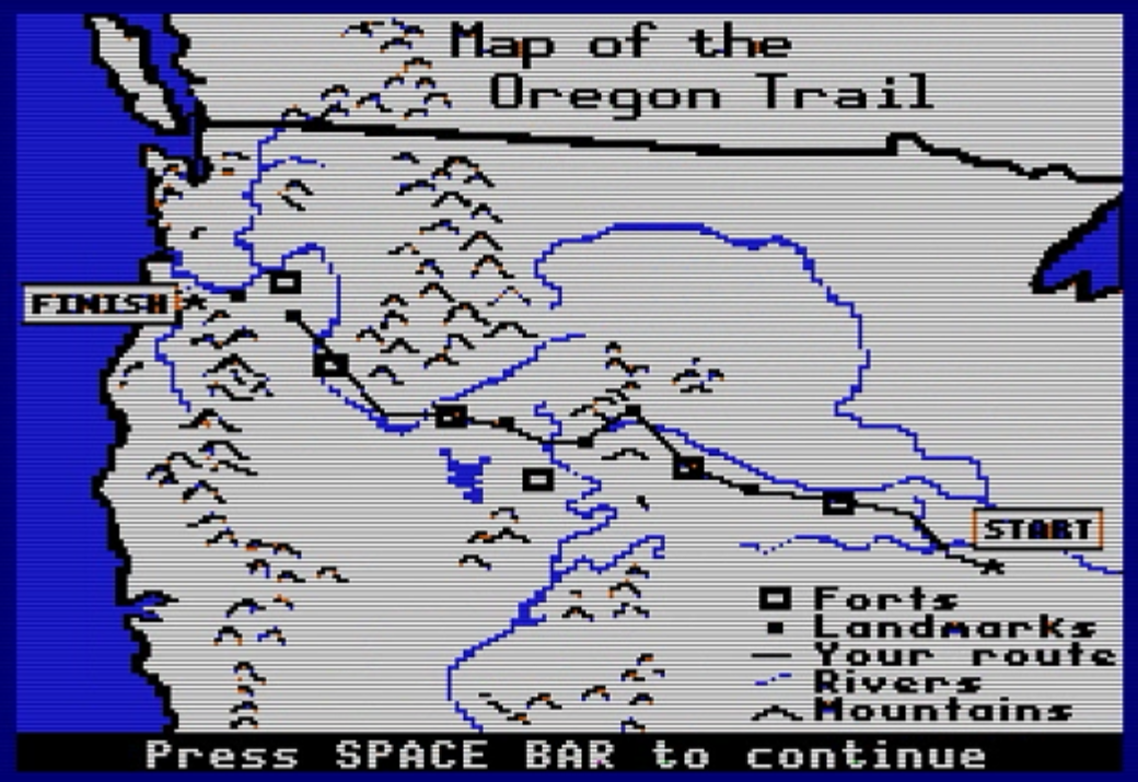 Oregon Trail Map | nerdtripping.com - nerdy trips