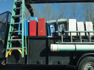 Truckload of payphones