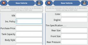 aCar Add a New Vehicle screenshot